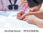 thai students writing on a... | Shutterstock . vector #393236836