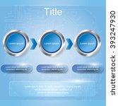 three step diagram  vector...   Shutterstock .eps vector #393247930