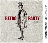 retro party design with old... | Shutterstock .eps vector #393248344