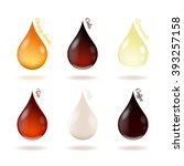 vector illustration of drops of ... | Shutterstock .eps vector #393257158