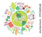 world health day concept with... | Shutterstock .eps vector #393268168