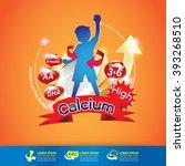 kids omega calcium and vitamin  ... | Shutterstock .eps vector #393268510