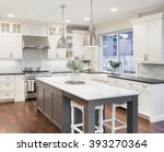 beautiful kitchen in luxury... | Shutterstock . vector #393270364