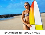 summer adventure. water sports. ... | Shutterstock . vector #393277438