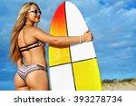 fitness girl. extreme summer...   Shutterstock . vector #393278734