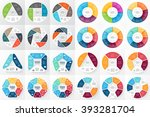 vector circle arrows... | Shutterstock .eps vector #393281704