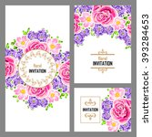 vintage delicate invitation... | Shutterstock .eps vector #393284653
