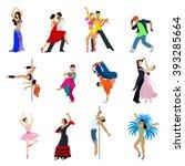 flat style dancing dancer... | Shutterstock .eps vector #393285664