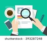 cv application paper sheet ... | Shutterstock .eps vector #393287248