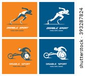 set of logos  signs. athletes... | Shutterstock .eps vector #393287824