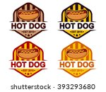 hot dog badge | Shutterstock .eps vector #393293680