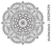 flower mandalas. vintage...   Shutterstock .eps vector #393294154