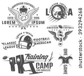 set of american football... | Shutterstock .eps vector #393294268