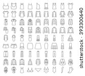 clothes icons. line icons.... | Shutterstock .eps vector #393300640