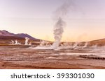 el tatio geysers   near san... | Shutterstock . vector #393301030