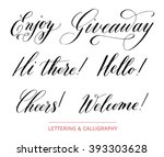 hand drawn elegant catchwords... | Shutterstock .eps vector #393303628