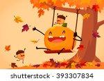 cartoon illustration of happy... | Shutterstock .eps vector #393307834