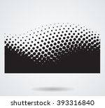wave halftone dots. abstract...