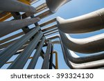 outdoor pipelines in the... | Shutterstock . vector #393324130
