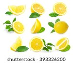 Set Of  Fresh Lemons With...