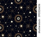 space seamless pattern with... | Shutterstock .eps vector #393326656