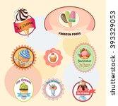 ice creams collection | Shutterstock .eps vector #393329053