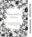 vintage delicate invitation...   Shutterstock .eps vector #393332734
