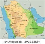 high detailed saudi arabia... | Shutterstock .eps vector #393333694