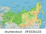 high detailed russia physical... | Shutterstock .eps vector #393336133