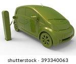 electric car illustration  | Shutterstock . vector #393340063