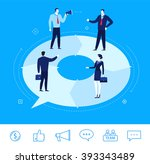flat design vector concept... | Shutterstock .eps vector #393343489