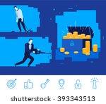 flat design vector concept... | Shutterstock .eps vector #393343513