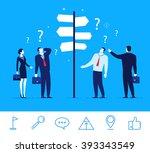 flat design vector concept... | Shutterstock .eps vector #393343549