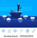 flat design vector concept... | Shutterstock .eps vector #393343594