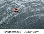 Life Buoy Floats On The Water...