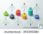 modern business cylinder 3d... | Shutterstock .eps vector #393350380