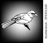 sparrow  sparrow   all elements ... | Shutterstock .eps vector #393351160