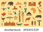 africa jungle ethnic culture... | Shutterstock .eps vector #393351529