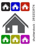 vector home icon | Shutterstock .eps vector #393353974