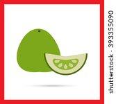 pomelo and pomelo slice | Shutterstock .eps vector #393355090