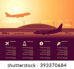 flat vector airport main... | Shutterstock .eps vector #393370684
