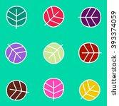 seamless leaf pattern | Shutterstock .eps vector #393374059