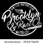brooklyn watercolor graphic | Shutterstock . vector #393375694