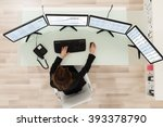 young female stock market... | Shutterstock . vector #393378790
