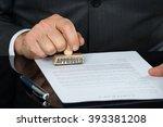close up of businessman hand... | Shutterstock . vector #393381208