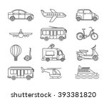 transport line icons. outline... | Shutterstock .eps vector #393381820
