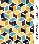 abstract geometric hipster... | Shutterstock .eps vector #393382624