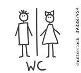 wc icon.vector art. wc icon eps ... | Shutterstock .eps vector #393387934