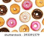 Doughnuts Pattern Illustration
