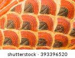 sculpture of orange dragon...   Shutterstock . vector #393396520